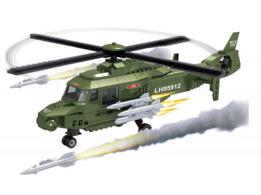 Bloques Infantiles 297 Piezas Army Helicopter